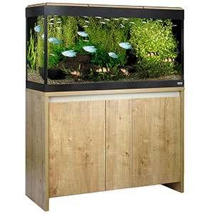 Fluval Roma 200 Litre Aquarium with LED Lighting Oak Finish with Cabinet £315 @ PetsAtHome