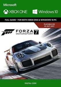Forza Motorsport 7: Standard Edition Xbox One/PC - £12.99 using code @ CDKeys