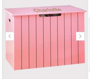 Personalised Panelled Toy Chest £19.99 (£24.98 delivered) @ Studio