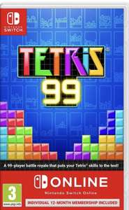 Tetris 99 and 12 month Nintendo online subscription at Game for £17.99