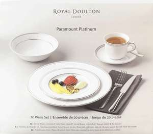 Royal Doulton 20 piece Paramount Platinum Dinnerware set at Costco £23.96