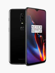 """OnePlus 6T Smartphone, Android, 6.41"""", 4G LTE, SIM Free, 8GB RAM, 128GB, Mirror Black £335 from John Lewis & Partners"""