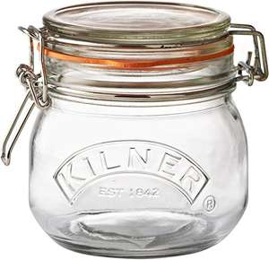 Kilner Clip Top Round Storage Jar, 0.5 Litre £2.60 prime / £7.09 non prime Amazon (Add on item)