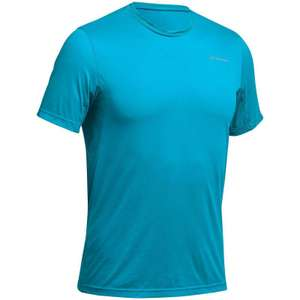 Quechua Men's Mountain Walking Short-Sleeved T-shirt MH100 - Turquoise (all sizes) - £1.99 @ Decathlon (Free click and collect)