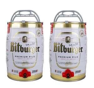 Bitburger beer kegs 5L x 2 - £32.19 Delivered Adnams