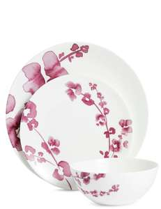 *further reduced* 12 Piece Fine China Violet Floral Box Set £20.99 @ M&S online + Free C&C