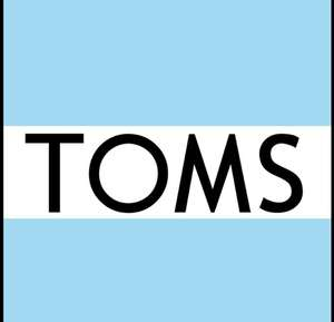 TOMS 60% SALE now with extra 10% off. Get a pair of TOMS for only £13.68 delivered.