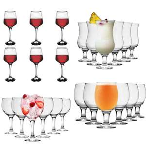 6x Glasses + Free Delivery Using Code From £3.99 - EG: Highball Glasses £3.99 / Beer Glasses £5.99 / 6 Gin Balloon Glasses £8.99 @ Rinkit
