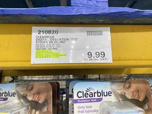 Clearblue digital ovulation tests 20 pack £11.98 at Costco Thurrock