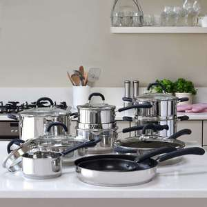 ProCook Gourmet Steel Cookware Set £249 ProCook