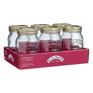 Kilner 500ml Preserving Jars Pack of 6 - £5 Free Click & Collect @ Dunelm