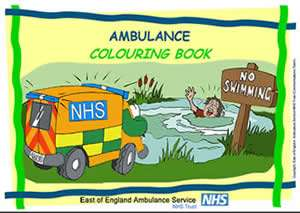 Free colouring book & educational comic for kids from East of England Ambulance Service