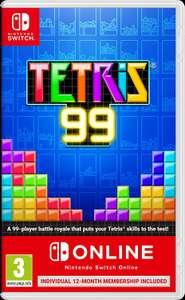 Tetris 99 + 12 month individual membership for NSO (Nintendo Switch) - £17.99 Prime / £22.48 Non Prime @ Amazon UK