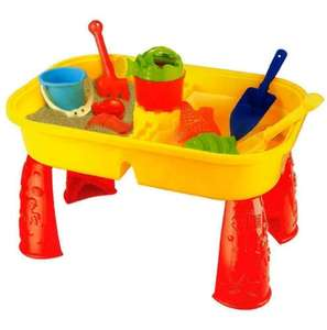 Sand & Water Table With Cover & Accessories inc. Sand Shapers, Watering Can, Spade, Fork & Bucket £10.99 del. @ Gift82014 / eBay