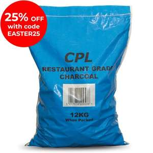 25% off @ coals2u with code - E.G 12KG Charcoal for £9.74 (£10 P&P)