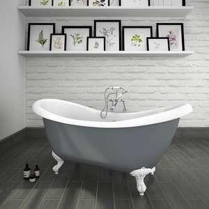 Earl Grey 1750 Double Ender Roll Top Slipper Bath w. Ball + Claw Leg Set £399.95 + £24.95 at Victorian Plumbing