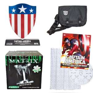 Selected Items On 4 for £20 + Free Delivery With Code - Includes Captain America Replica 1/6 Shield / Harry Potter Shower Curtain @ Zavvi