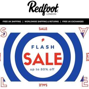 Up to 80% off red foot shoes, boots & slippers - Free UK Delivery