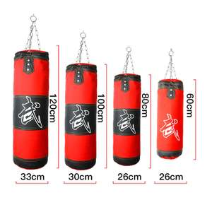 Hanging 100cm boxing sand bag (empty) with chain, hook, and carabiner clip for £19.44 delivered @ AliExpress Deals / LAOTIE OUTDOOR Store