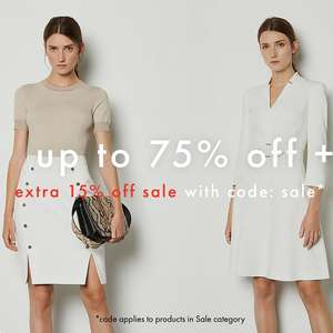 Up to 75% Off Sale + Extra 15% Off with code + Free Returns @ Karen Millen (delivery £4.99)