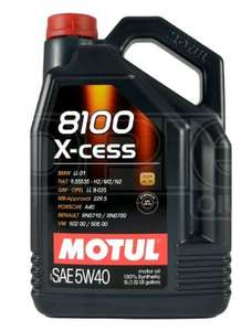 5L Motul 8100 X-Cess 5W-40 Fully Synthetic Car Engine Oil £33.49 at Opie Oils