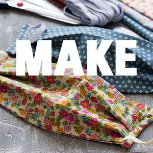 Free Mask Pattern from Unicef as part of their Make one Give 50 Campaign