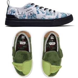 50% Off Star Wars TOMS + Extra 15% Off with code + Free Delivery @ TOMS - eg Star Wars X TOMS Yoda Luca Toddler Slip-ons £13.60 delivered