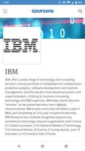 Free IBM technology training on Coursera