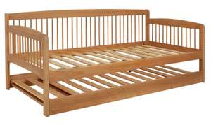Argos Home Andover wooden day bed with trundle bed in natural pine for £166.15 delivered @ Argos