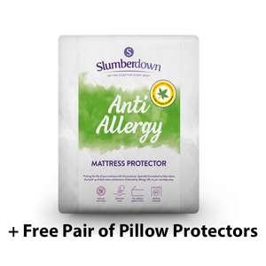 Slumberdown Anti Allergy Mattress Protector + Free Pair of Pillow Protectors - Single £12.99 / Double £14.50 / King £15.50 @ SleepSeeker