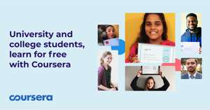 Free Coursera learning & certificates for university and college students: Yale, Google, Duke, AWS, and more