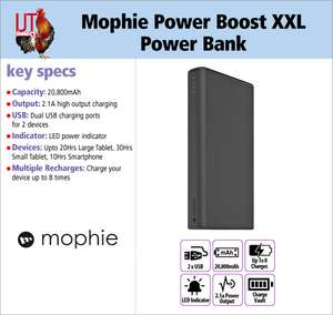 Mophie Power Boost XXL 20,800mAh Power Bank. Charge two devices at once - £32.94 Delivered @ IJT Direct