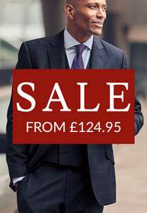 Charles Tyrwhitt Sale - Up to 50% off Suits / Shirts / Accessories (From £124.95 / £4.95 Postage)