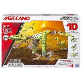 Meccano Dinosaurs 10-in-1 Models Set £14.99 plus Free Delivery From Bargain max