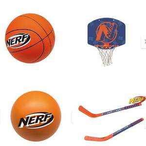 Nerf Mini basketball and net or Mini Hockey Sticks and Ball £7.99 In-store in Lidl from the 16th