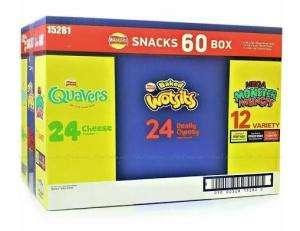 Walkers Snack Box Variety x 60 pack £5.98 / Malibu 1L £12 / Smorgasbord Chicken Meatballs 1kg £3 / Diced Mango 1.8kg £3.89 @ Costco