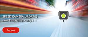 TomTom world speed camera updates for £1 for 3 months using code