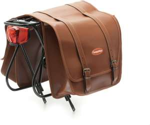 Cicli Bonin Unisex's Lux Leather Looking Saddle Bags, Brown, One Size - £34.84 @ Amazon