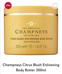 Champneys Citrus Blush Enlivening Body Butter - £5 each see post for offers @ Boots (£1.50 C&C under £20)