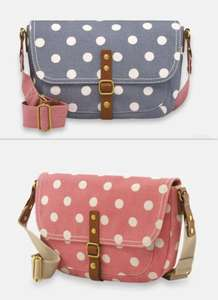 Cath Kidston Cross Body Satchel Bag Now £30 Pink or Blue Free delivery @ Cath Kidston
