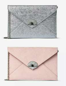 Silver or Blush Shell Clutch bag £1.80 delivered with code @ Dorothy Perkins - More styles available in the OP