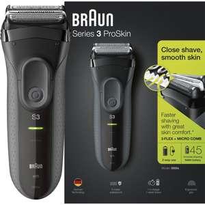 BRAUN Series 3 ProSkin 3000s Wet & Dry Foil Shaver - Black - £19.97 delivered @ Currys PC World