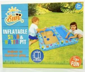 Half price Outdoor Toy Inflatable Sand & Water pit Now £4 , Swingball Soccer £5, Water tablet fun £5 Bouncy Castle £12 IN STORE B&M Rothwell