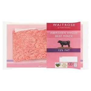 Waitrose Aberdeen Angus Beef Mince 15% Fat 400g for £1.99 @ Waitrose & Partners