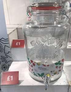 6l Kilner-type glasfustage drinks dispenser £1 at Flying Tiger in Stratford Westfield
