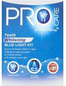 Superdrug Procare Teeth Whitening Blue Light kit online only £10 at Superdrug