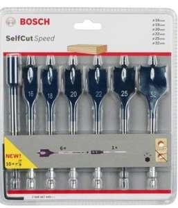 Bosch Professional 2608587009 Spade Drill Bit Set 7pcs 16/18/20/22/25/32 mm - £11.06 Prime /+£4.49 non Prime @ Amazon