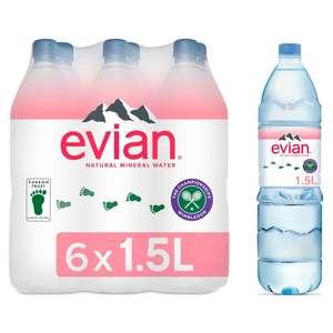 Evian Natural Mineral Water 6X1.5Ltr £3.50 @ Tesco
