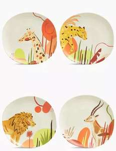 Set of 4 Jungle Dinner Plates £5 (Limited Stock) Free click and collect at Marks & Spencer