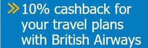 Barclaycard BritishAirways 10% Cashback for spend over £ 200